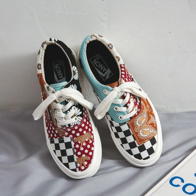 Low Top Canvas Shoes Men/Women Fashion Sneakers Men Breathable Flats Hot-Selling Unisex Vulcanized Canvas Shoes Tenis Feminino
