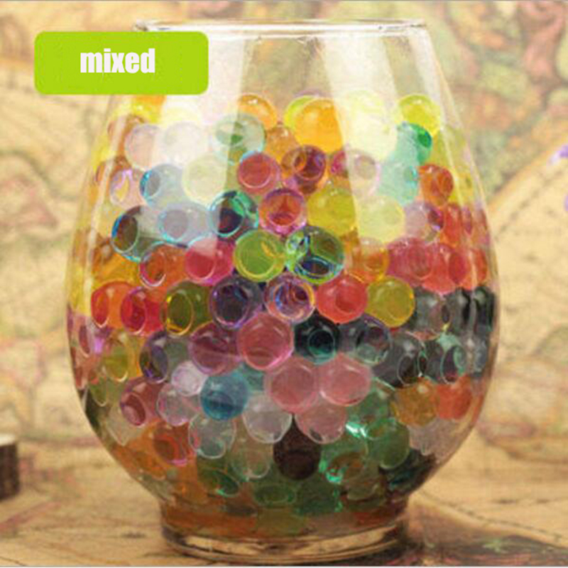 250pcs/bag Crystal Soil Water Beads Hydrogel Orbiz Growing Water Balls Christmas Gift Gel Ball Gun Bullet/Flower/Wedding/Decor