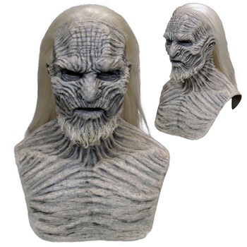 Horror The Night King Mask Cosplay Game of Thrones White Walkers Zombie Latex Masks With Hair Halloween Party Costume Props NEW blood blockade battlefront kekkai sensen black brother the king of despair zetsubou ou cosplay costume