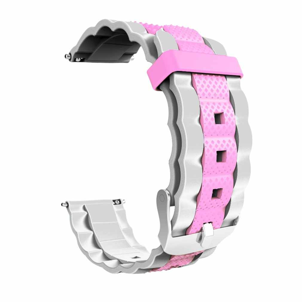 Fashionable Personality Watchband Three Beads Wave Silicone Two-Color Watch Strap For Amazfit Gts Watch