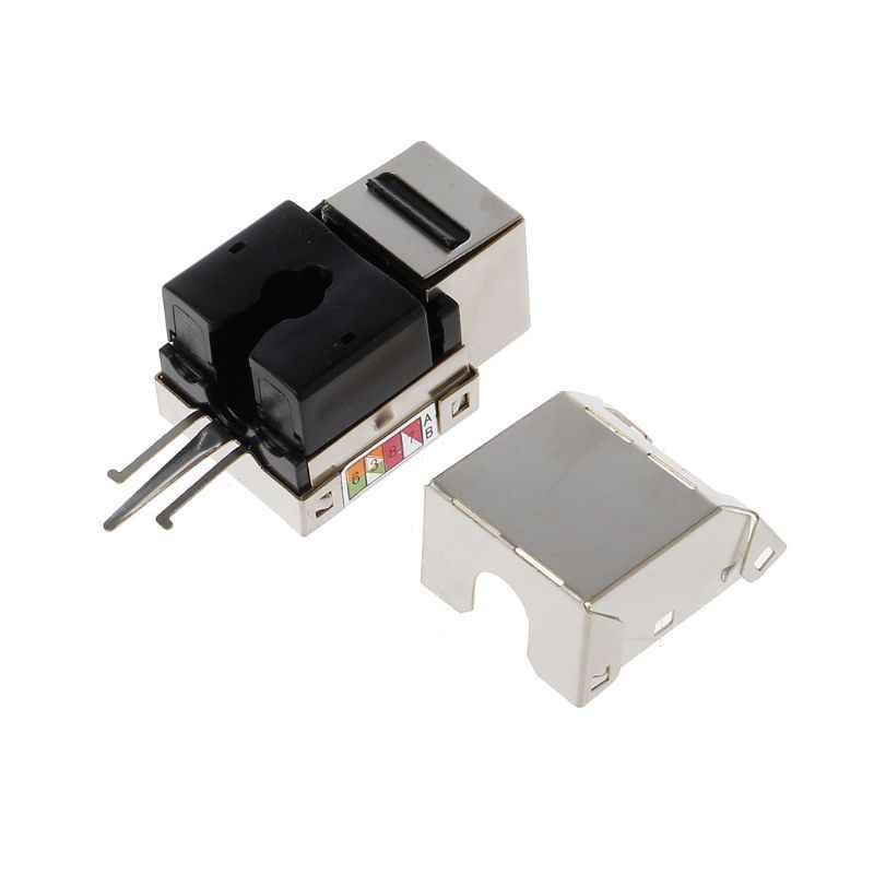 1 unidad RJ45 Keystone Cat6 blindado FTP aleación de cobre UTP Módulo de red Keystone Jack conector de red adaptador conector de información
