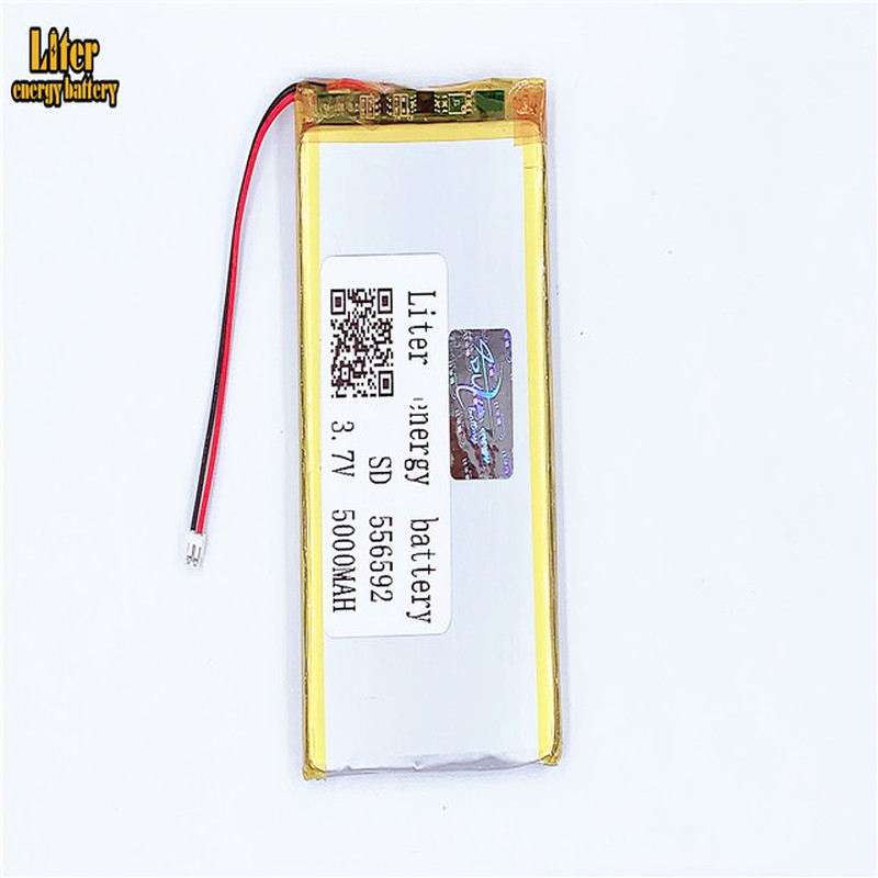 1.5MM 2pin connector High quality 556592 <font><b>3.7v</b></font> <font><b>5000mAh</b></font> <font><b>lipo</b></font> lithium polymer rechargeable <font><b>battery</b></font> image