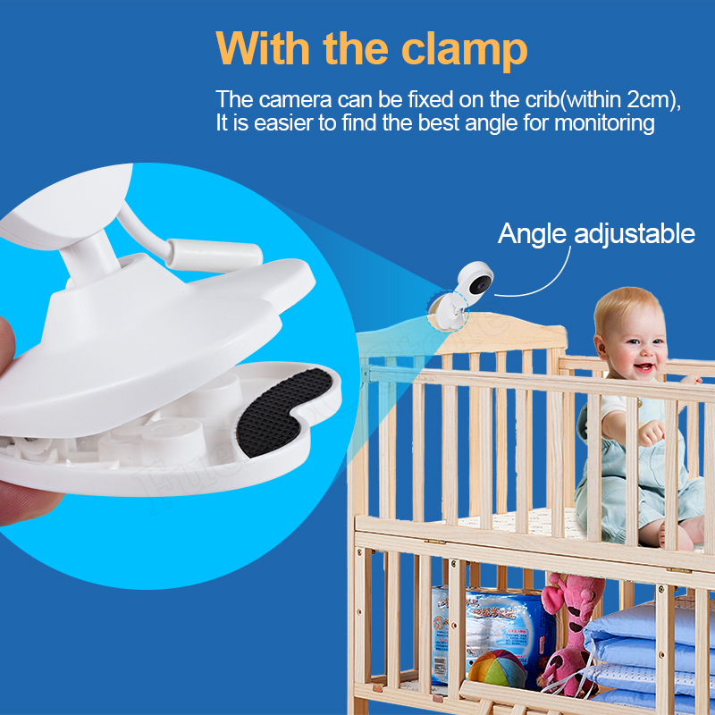 4 inch Video Baby Monitor with Camera And Two Way For Audio Baby Security 1