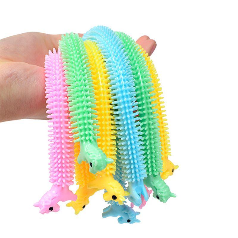 Anti-Stress Toys String Worm Noodle Fidget Autism 3pcs Tpr-Rope
