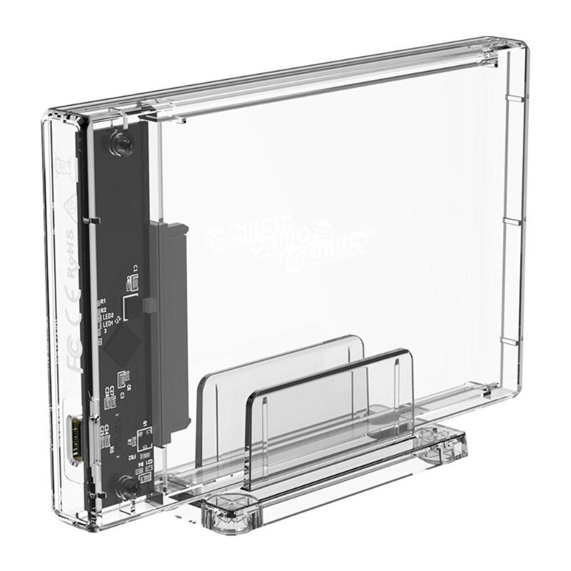 ORICO USB 3.1 Type C To 2.5 SATA Hard Disk SSD External Enclosure Transparent USB3.1 HDD Enclosure Case For Windows /Mac/Linux