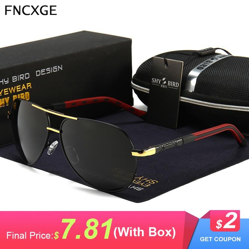 Men Polarized Sunglasses Vintage Aluminum Classic Brand Men's Sun glasses oculos Male Eyewear Coating Lens Driving For Men 8725