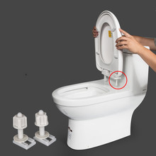 2Pcs toilet seat cover Fixings Plastic toiletseat Screws Quick Release Hinge toilet Mounting connector Repair Parts 2pcs toilet seat cover fixings plastic toiletseat screws quick release hinge toilet mounting connector repair parts