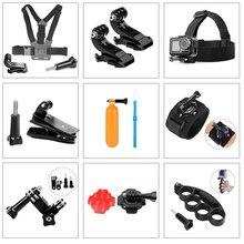 Acessórios para gopro hero 8 7 6 5 4 3 câmera, esporte de ação, cabeça no peito mão alça de pulso para xiaomi yi 4k eken carro sucção