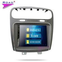 مشغل راديو للسيارة 2 Din يعمل بنظام أندرويد 7.1 مزود بوحدة راديو للسيارة فيات ليب فريمونت دودج مزود بنظام ملاحة جي بي إس فيديو ماجنيتول