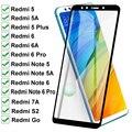 11D Gehärtetem Glas Für Xiaomi Redmi 5 Plus 5A Gehen 6 6A 7A S2 Volle Abdeckung Screen Protector Auf Redmi hinweis 5 5A 6 Pro Schutzhülle Film
