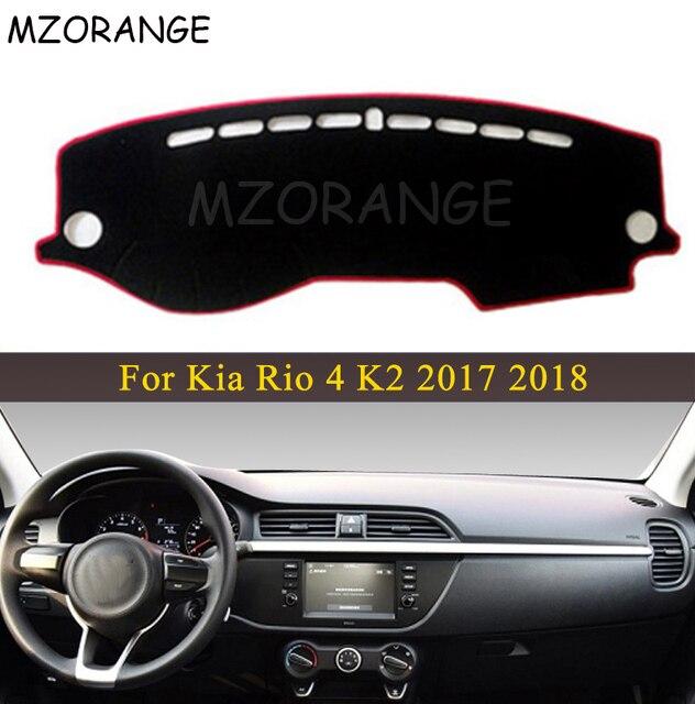LHD RU רכב לוח מחוונים כיסוי עבור קאיה ריו 4 K2 2017 2018 אנטי שקופיות כרית Dashmat שמש צל דאש לוח כיסוי שטיח רכב סטיילינג מחצלת