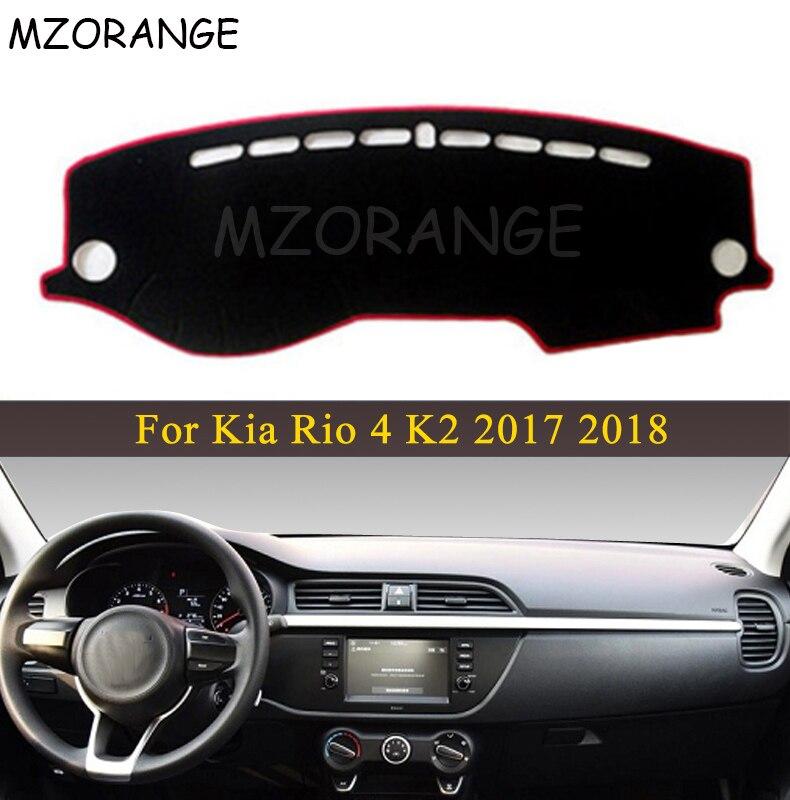 LHD RU Car Dashboard Cover For Kia Rio 4 K2 2017 2018 Anti-slide Pad Dashmat Sun Shade Dash Board Cover Carpet Car-styling Mat