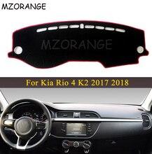 LHD RU Car Dashboard Cover For Kia Rio 4 K2 2017 2018 Anti slide Pad Dashmat Sun Shade Dash Board Cover Carpet Car styling Mat