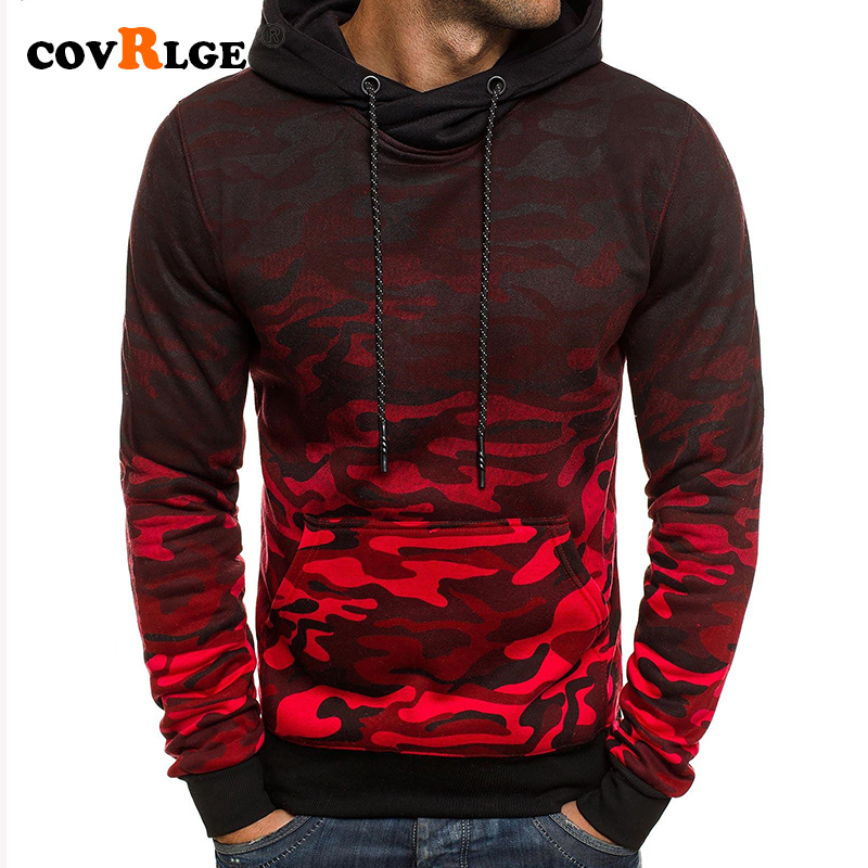 Covrlge 2019 NEW Men Hoodies Spring Autumn Casual Printing Camouflage Sweatshirt Fashion Pullover Hoodie Men Streetwear MWW179