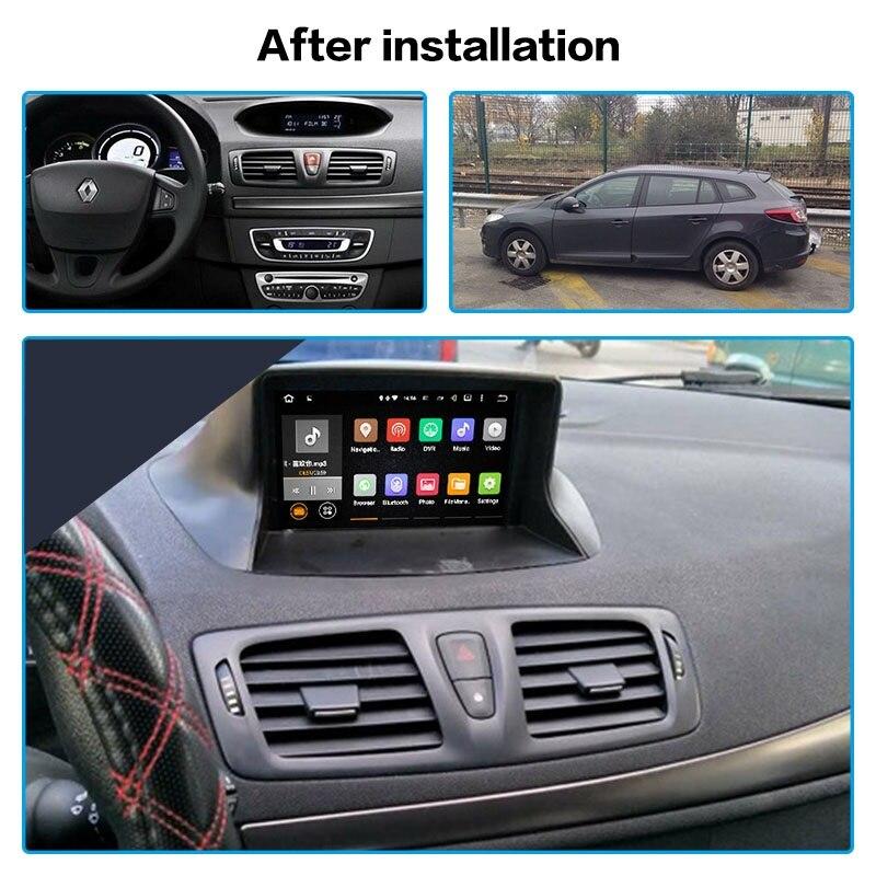Android 10.0 Car Stereo Multimedia Player GPS Glonass Navigation for Renault Megane 3 Fluence 2009-2015 Video Radio BT head unit
