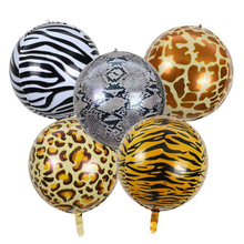 22 inch 4D aluminum film balloon tiger pattern leopard animal round foil party decoration