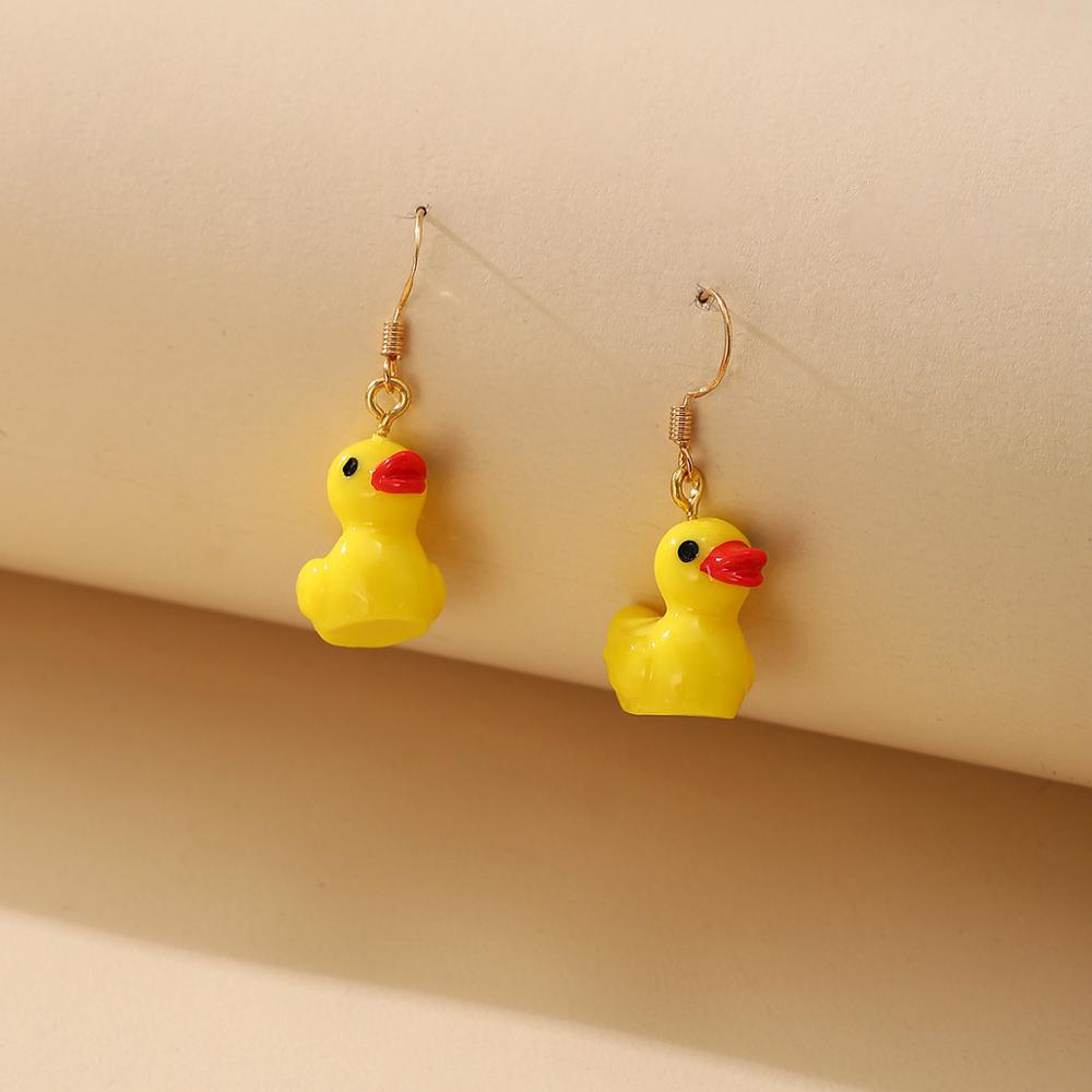 Unique Funny Earrings Kitschy Jewelry Rubber Ducky Accessories