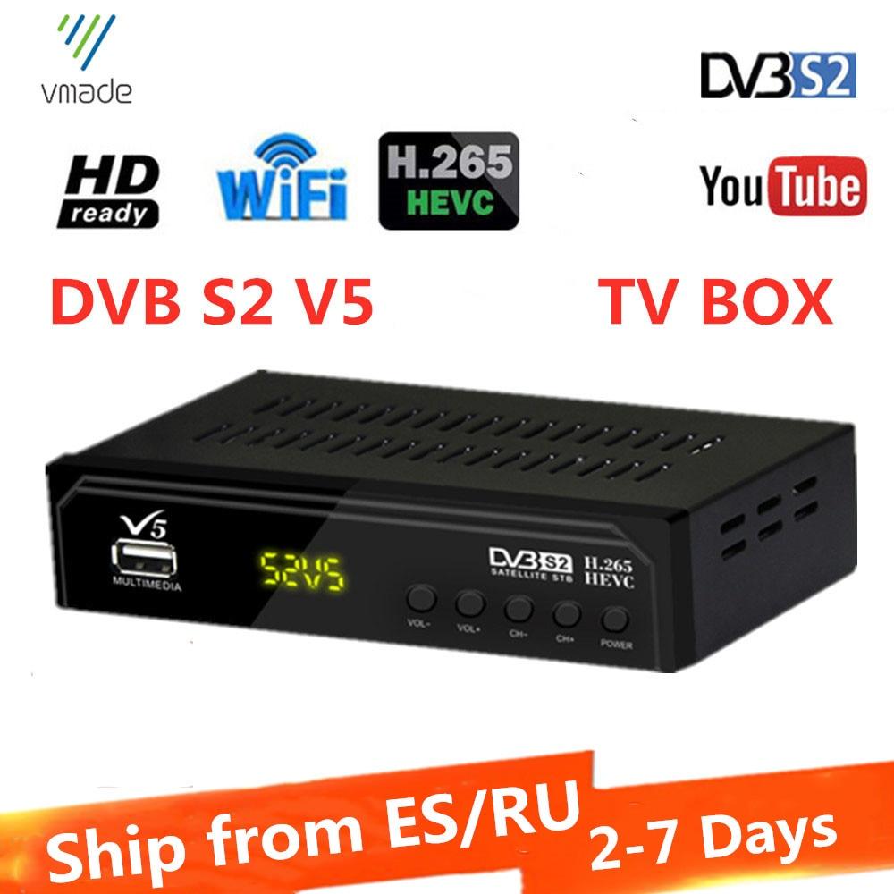 Vmade V5 DVB-S2 HD приемник цифровой ТВ приставка спутниковый приемник H.265 проигрыватель Youtube USB WIFI ТВ Декодер