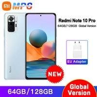 Global Version Xiaomi Redmi Note 10 Pro 6GB 64GB/128GB Smartphone 108MP Quad Camera Snapdragon 732G 120Hz AMOLED Display NFC 1