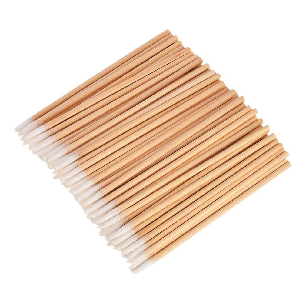 Hygienic Cotton Swabs Sanitary Swabs 100 Pcs Cosmetic Nail Cotton Swabs