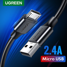 Ugreen Micro USB Kabel 2.4A Snel Opladen USB Data Kabel Mobiele Telefoon Opladen Kabel voor Samsung Huawei HTC Android Tablet kabel(China)