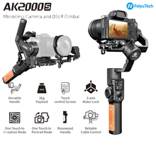 Usato Feiyu Feiyu AK2000S DSLR stabilizzatore per fotocamera 3 assi palmare giunto cardanico Video Estabilizador per Sony Canon 5D Panasonic GH5 Nikon