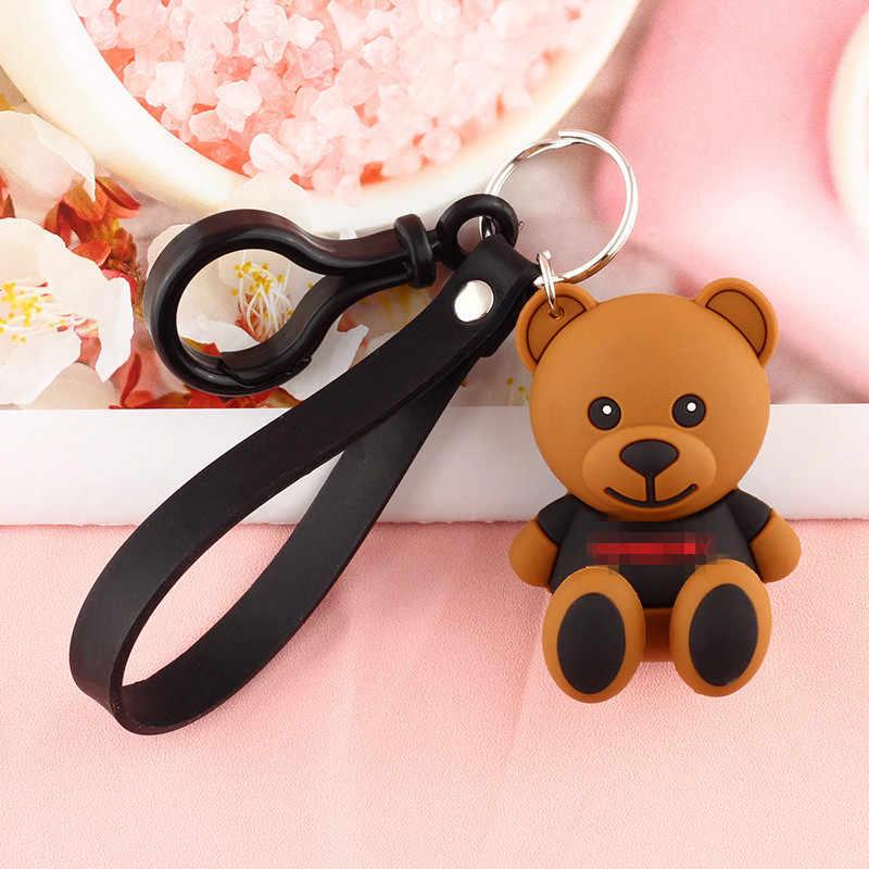 2020 karikatür kauçuk ayı örümcek-adam anahtarlık yaratıcı sevimli PVC bebek hayvan anahtarlıklar kadın çantası araba anahtarlık çocuk oyuncakları