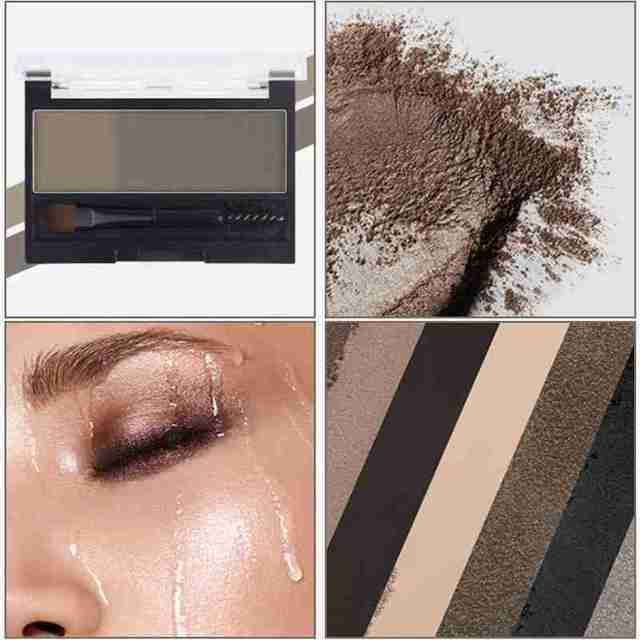 Double Color Eyebrow Powder Professional Makeup Palette Eyebrow Stamp Eye Brow Enhancers Eye Brows Shadow Make Up Brow Powder 3