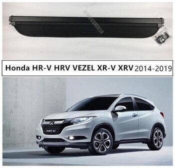 For Honda HR-V HRV VEZEL XR-V XRV 2014-2019 Rear Trunk Cargo Cover Security Shield High Qualit Auto Accessories Black Beige