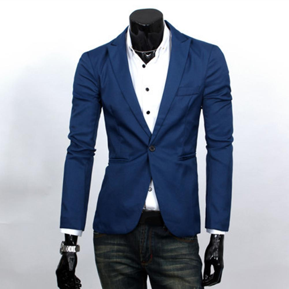 2018 Autumn Blazers Men One Button Men Blazer Costume Homme Suit Jacket Masculine Blazer Outwear Top