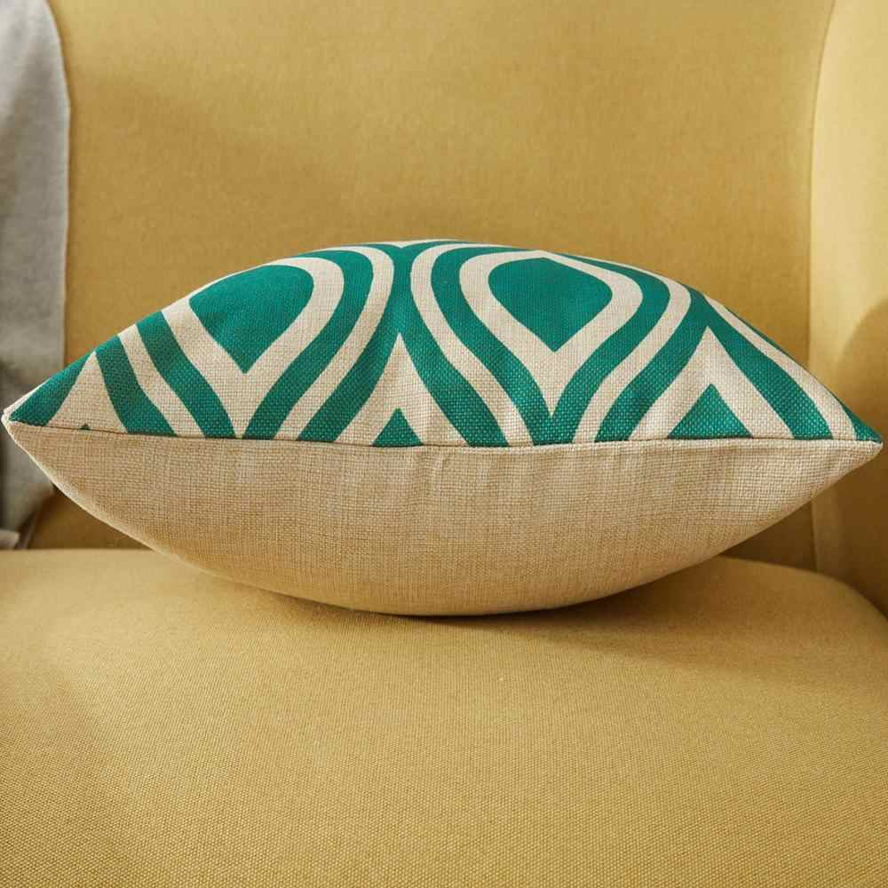 Topfinel البط البري هندسية وسادة يغطي القطن الكتان رمي سادات ل أريكة كرسي السرير ديكور المنزل النمط الاسكندنافي