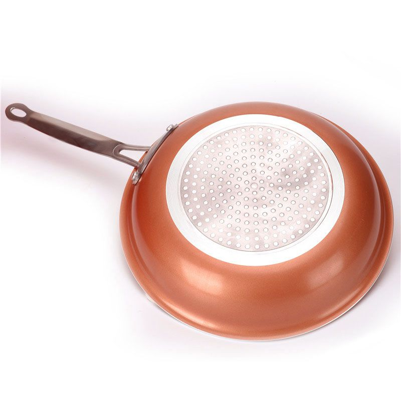 Non-Stick Frying Pan Copper Red Pan Induction Frying Pan Frying Pan Saucepan Oven Dishwasher Safe 8 Inch Anti-Baking Frying Pan