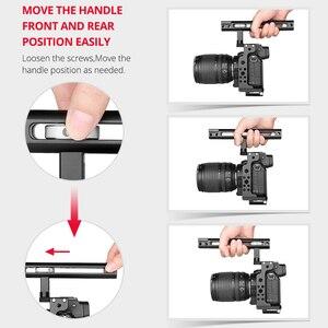 Image 5 - Andoer C15 kamera kafesi + üst kolu + 15mm çubuk taban plakası kiti alüminyum alaşım soğuk ayakkabı dağı Nikon z6/Z7 DSLR kamera