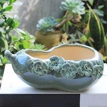 Креативный большой керамический цветочный горшок для дома в стиле ретро, дышащая тыква, цветочный горшок, художественное искусство, подарок на свадьбу, украшение для дома