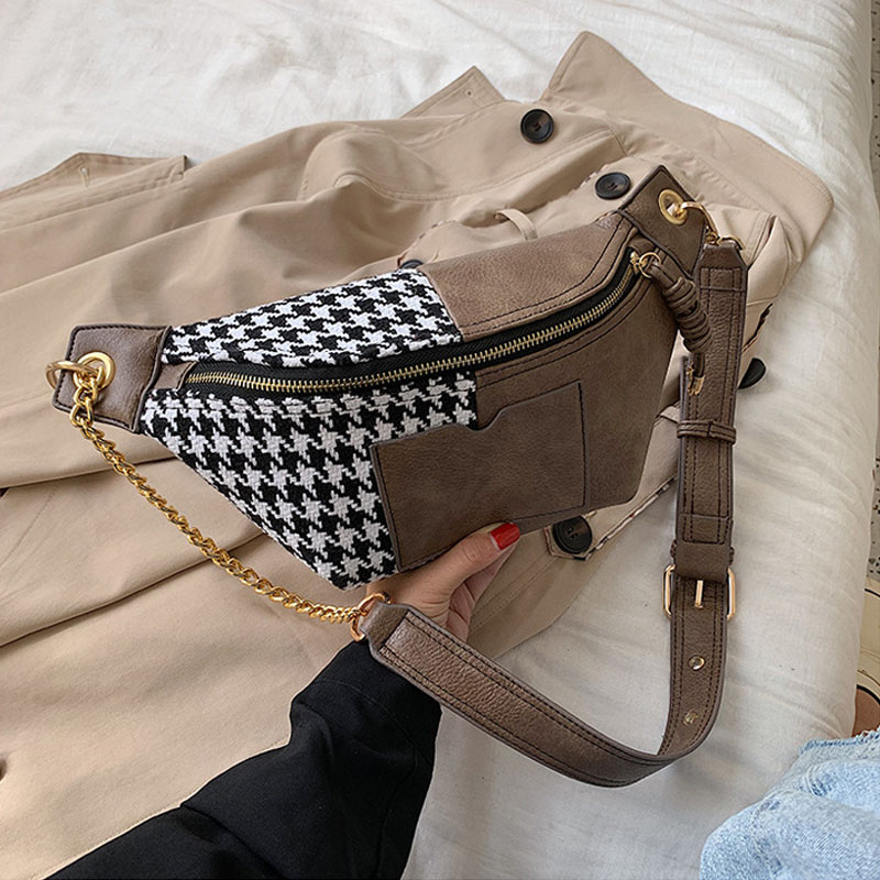 Women Waist Pack Chest Bags Fashion Ladies New Fanny Pack PU Leather Waist Bag Banana Bag Leisure Girl Shoulder Crossbody Bags