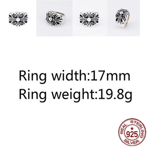 A68 925 sterling silver ring j