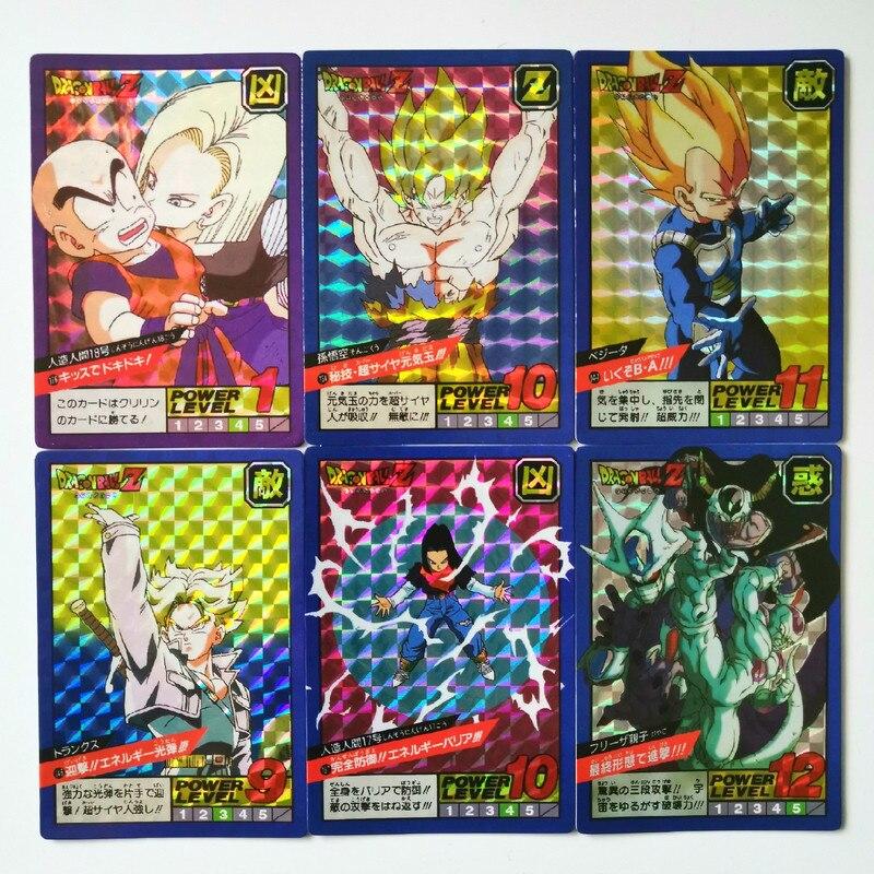 42pcs/set Dragon Ball Super Saiyan Goku Jiren Poker Game Action Toy Figures Commemorative Edition Collection Cards Free Shipping