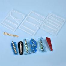 Silicone Mold Jewelry-Tools Hair-Clip Casting-Mould Epoxy Resin Crystal DIY Homemade