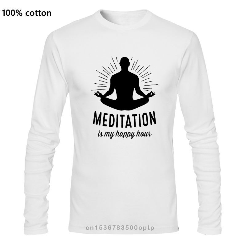 Медитация мой счастливый час дзен, йога разитация мир Мужская, оранжевая футболка|Футболки| | АлиЭкспресс