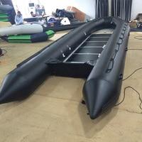 Black Huge Speedboat Fishing Boat Inflatable Boat Kayak Fishing Boat Hovercraft Assault Boat Rubber Boat