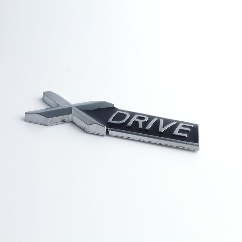 10pcs 3D Chrome Metal XDRIVE X <font><b>DRIVE</b></font> <font><b>Emblem</b></font> Logo Sticker Badge Decal Car Styling for <font><b>BMW</b></font> X1 X3 X5 X6 E39 E36 E53 E60 E90 F10 E46 image