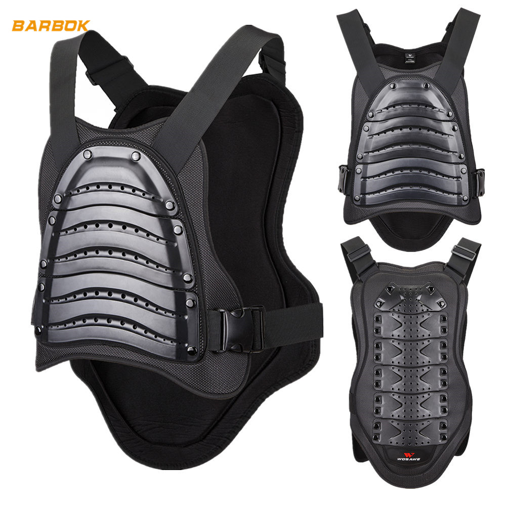 WOSAWE Back Protector Motocross Armor Adult Spine Chest Protection Moto Racing Skateboard Body Top Motorcycle Vest Jackets|Armor| |  - title=
