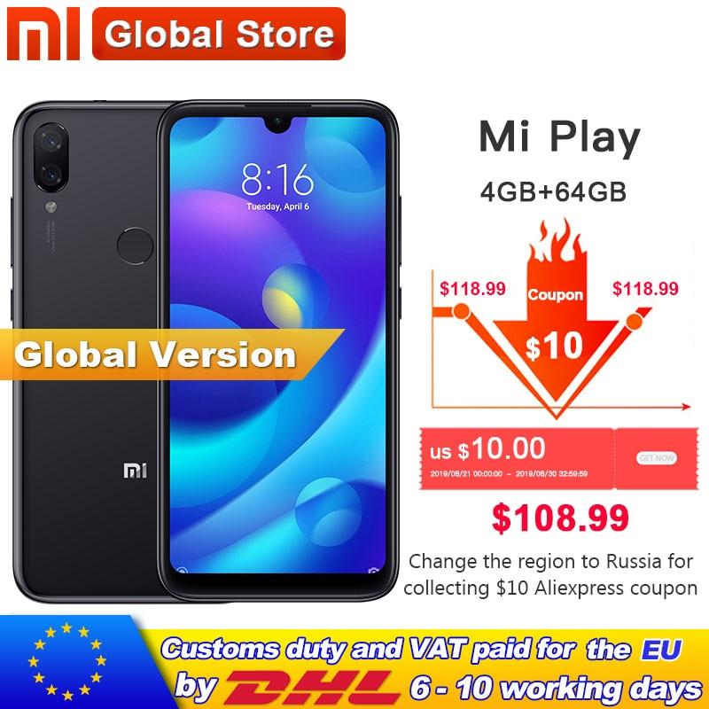 Xiaomi Mi-Play 4GB Fingerprint Recognition New Telephone Ai-Camera Global-Version Helio P35