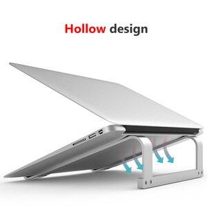 Image 2 - Podstawka pod laptopa,Regulowany aluminiowy stojak na laptopa przenośny uchwyt na notebooka do komputera Macbook Pro uchwyt do stojaka na komputer