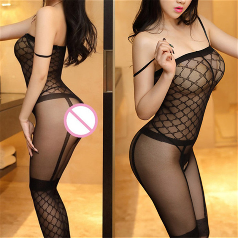 <font><b>Open</b></font> <font><b>Crotch</b></font> <font><b>Sexy</b></font> Stockings Black Grids Tights <font><b>Women</b></font> Plus Size <font><b>Erotic</b></font> <font><b>Lingerie</b></font> <font><b>Sexy</b></font> Transparent Pantyhose Elastic Body Stockings image