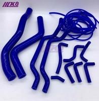 Kit de mangueira de radiador de silicone para mitsubishi eclipse gsx dsm 4g63 95-99 2g + kit de vácuo (14 peças) vermelho/azul/preto