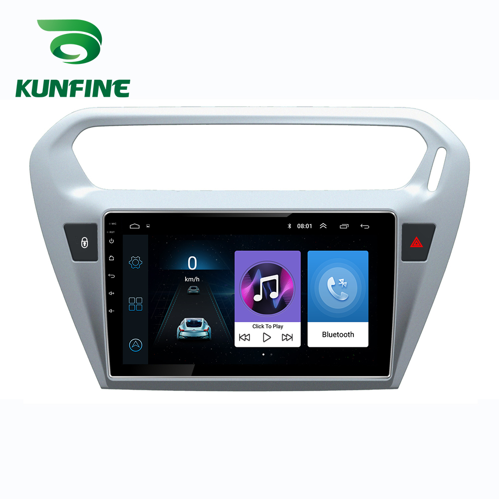 Car Radio For CITROEN Elysee 2014-18 <font><b>Peugeot</b></font> <font><b>301</b></font> 13-16 Octa Core Android 10.0 Car DVD GPS Navigation Player Deckless Car Stereo image