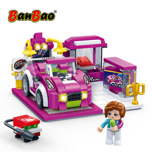 Image 5 - BanBao Racing Car Garage Pull Back Off road Vehicle Bricks Educational Building Blocks For Kids Children Model Toys Gift
