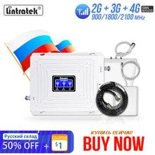 Lintratek 2G 3G 4G CellularสัญญาณBooster GSM 900 1800 2100 GSM WCDMA UMTS LTE Repeater 900/1800/2100Mhzเครื่องขยายเสียง