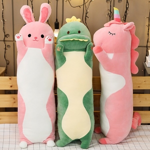 Image 5 - 1pc 70/90/120CM Cartoon Animal Dinosaur Unicorn Cat Plush Toys Stuffed Soft Long Sleeping Pillow Dolls Children Birthday Gift